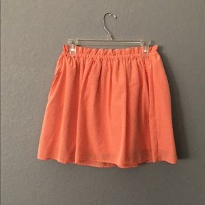 Orange polka dot skirt size M